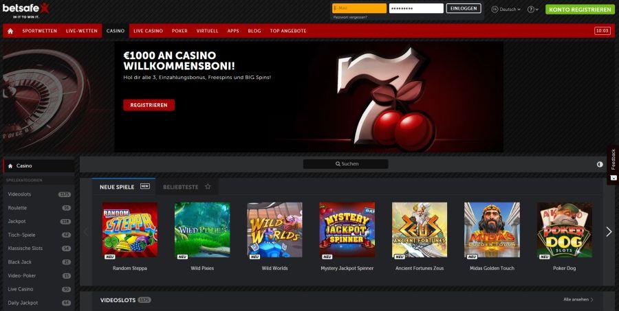Betsafe Casino Vorschau