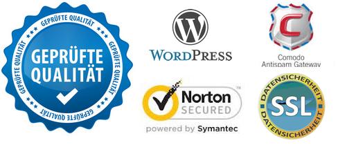 geprüfte Qualität- Logo Comodo Norten Secure